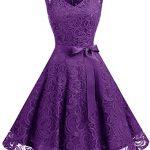 vestidos violeta cortos