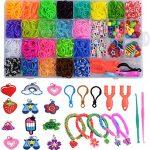 gomas elasticas de colores para pulseras