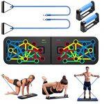 tabla de ejercicios con gomas elasticas